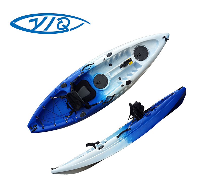 Single person plastic fast speed good balance small recreational kayak