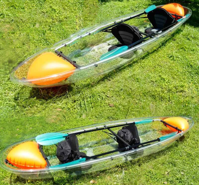 Transparent double person PC material clear kayak